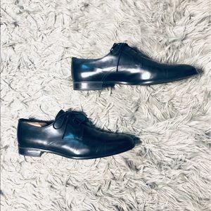 Prada Men's Black Leather Dress Shoes